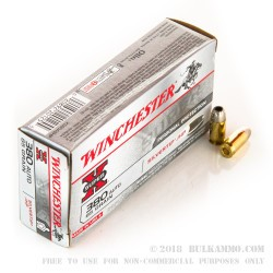 50 Rounds of .380 ACP Ammo by Winchester - 85gr JHP