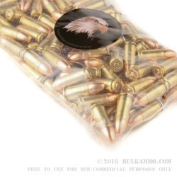 100 Rounds of 9mm Ammo by MBI - 115gr FMJ