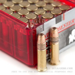 100 Rounds of .22 LR Ammo by Winchester Super-X - 40gr Power Point