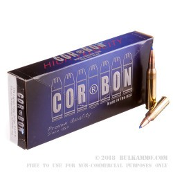20 Rounds of .338 Lapua Ammo by Corbon - 265gr T-DPX