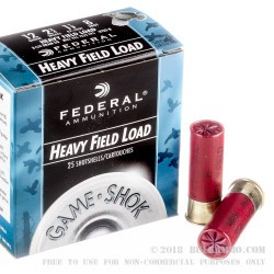 """25 Rounds of 12ga Ammo by Federal Game-Shok - 2-3/4"""" 1 1/8 ounce #8 shot"""