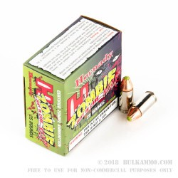 25 Rounds of 9mm Ammo by Hornady - 115gr Zombie Z-Max