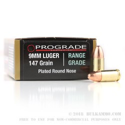 500  Rounds of 9mm Ammo by ProGrade Ammunition - 147gr CPRN