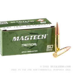 500 Rounds of .300 AAC Blackout Ammo by Magtech First Defense - 115gr OTM