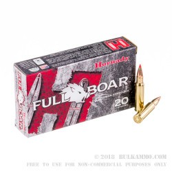 20 Rounds of 6.8 SPC Ammo by Hornady Full Boar - 100gr GMX