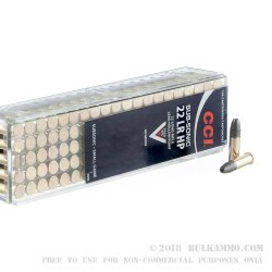 100 Rounds of .22 LR Ammo by CCI - 40gr LHP