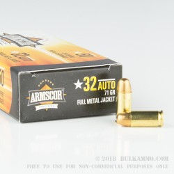 1000 Rounds of .32 ACP Ammo by Armscor - 71gr FMJ
