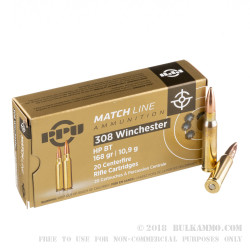200 Rounds of .308 Win Ammo by Prvi Partizan - 168gr HPBT