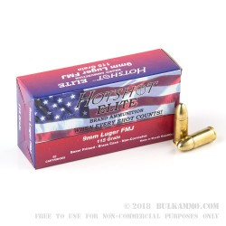 50 Rounds of 9mm Ammo by Hotshot Elite - 115gr FMJ
