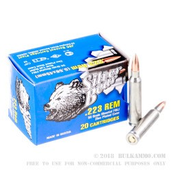 500  Rounds of .223 Ammo by Silver Bear - 55gr FMJ