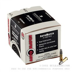 3250 Rounds of .22 LR Ammo by Federal AutoMatch - 40gr LRN