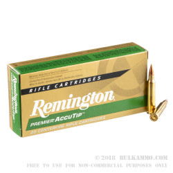 20 Rounds of .223 Ammo by Remington Premier - 50gr Accutip-V