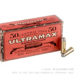 50 Rounds of .44-40 Win Ammo by Ultramax - 200gr LFN