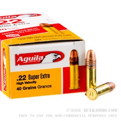 50 Rounds of .22 LR Ammo by Aguila - 40gr CPRN