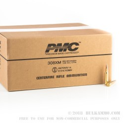 800 Rounds of .308 Win Ammo by PMC X-TAC Match - 168gr OTM