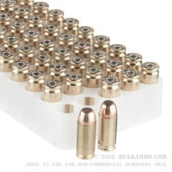 50 Rounds of .40 S&W Ammo by Estate Cartridge - 180gr FMJ