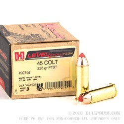 200 Rounds of .45 Colt Ammo by Hornady Leverevolution - 225gr FTX