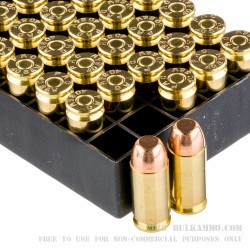 50 Rounds of .40 S&W Ammo by PMC - 165gr FMJFN
