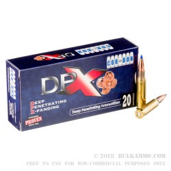 20 Rounds of .308 Win Ammo by Corbon - 130gr T-DPX