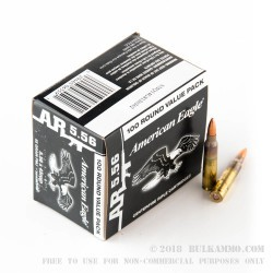 500 Rounds of 5.56x45 XM193 Ammo by Federal - 55gr FMJBT