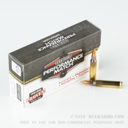 20 Rounds of 223 Ammo by Corbon Performance Match - 77gr HPBT