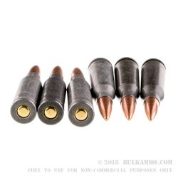 20 Rounds of 5.45x39mm Ammo by Tula - 60gr FMJ
