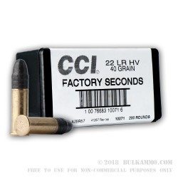 4200 Rounds of .22 LR Ammo by CCI - 40gr LS