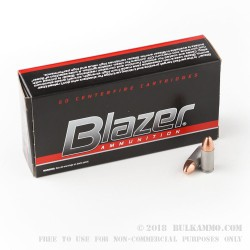 50 Rounds of 9mm Ammo by Blazer - 115gr FMJ