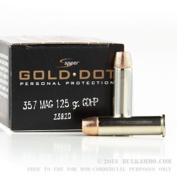 20 Rounds of .357 Mag Ammo by Speer - 125gr JHP