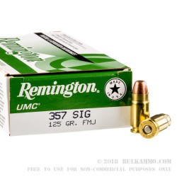 500 Rounds of .357 SIG Ammo by Remington - 125gr MC