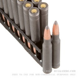 20 Rounds of 30-06 Springfield Ammo by Wolf Military Classic - 168gr SP