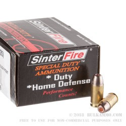 20 Rounds of .380 ACP Ammo by SinterFire Special Duty - 75gr HP