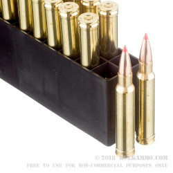 20 Rounds of .338 Win Mag Ammo by Hornady Superformance - 185gr GMX