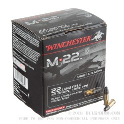 1000 Rounds of .22 LR Ammo by Winchester - 40gr CPRN