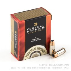 20 Rounds of .40 S&W Ammo by Federal - 180gr JHP Hydra Shok
