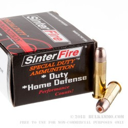 20 Rounds of .38 Spl Ammo by SinterFire Special Duty - 110gr Frangible HP