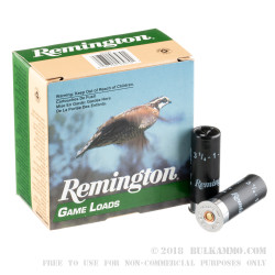 250 Rounds of 12ga Ammo by Remington - 1 ounce #7 1/2 shot