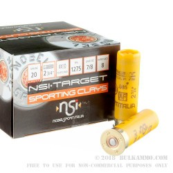 250 Rounds of 20ga Ammo by NobelSport - 7/8 ounce #8 shot
