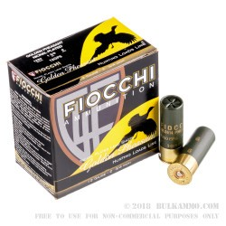 250 Rounds of 12ga Ammo by Fiocchi Golden Pheasant - 1 3/8 ounce #6 shot