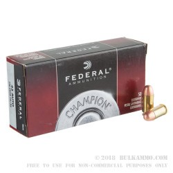 1000 Rounds of .45 ACP Ammo by Federal - 230gr FMJ