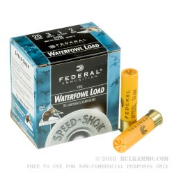 "25 Rounds of 20ga 3"" Ammo by Federal Speed-Shok Steel - 7/8 ounce #2 Shot"