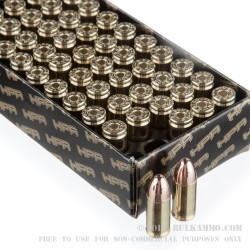 50 Rounds of 9mm Ammo by HPR - 115gr TMJ