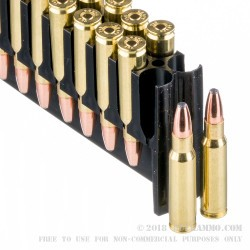 20 Rounds of 6.8 SPC Ammo by Silver State Armory - 90gr Bonded Soft Point