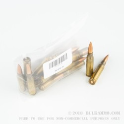 20 Rounds of 7.62 NATO Military Surplus Ammo - 175gr OTM Long Range