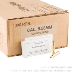 1000 Rounds of 5.56x45 Blank Ammo by Armscor -  Blanks