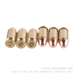 500 Rounds of .45 ACP Ammo by American Quality Ammunition - Reman - 230gr FMJ