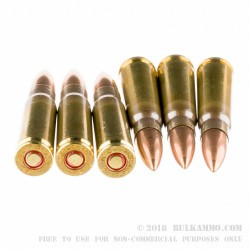 20 Rounds of 7.62x39mm Ammo by PMC - 123gr FMJ