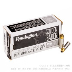38 Special - +P 125 Grain JHP - Remington Golden Saber - 500 Rounds