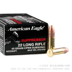 500 Rounds of .22 LR Ammo by Federal - 45 gr CPRN