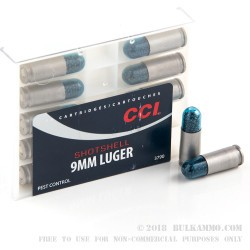 10 Rounds of 9mm Ammo by CCI - 53gr #12 shot